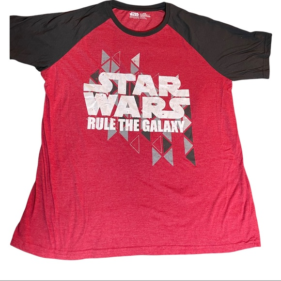 Star Wars Rule The Galaxy Short Sleeve Red Black T-Shirt Men's X-Large